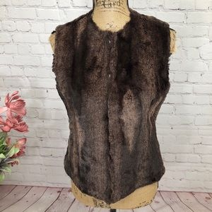 Live a Little Faux Fur and Leather Vest